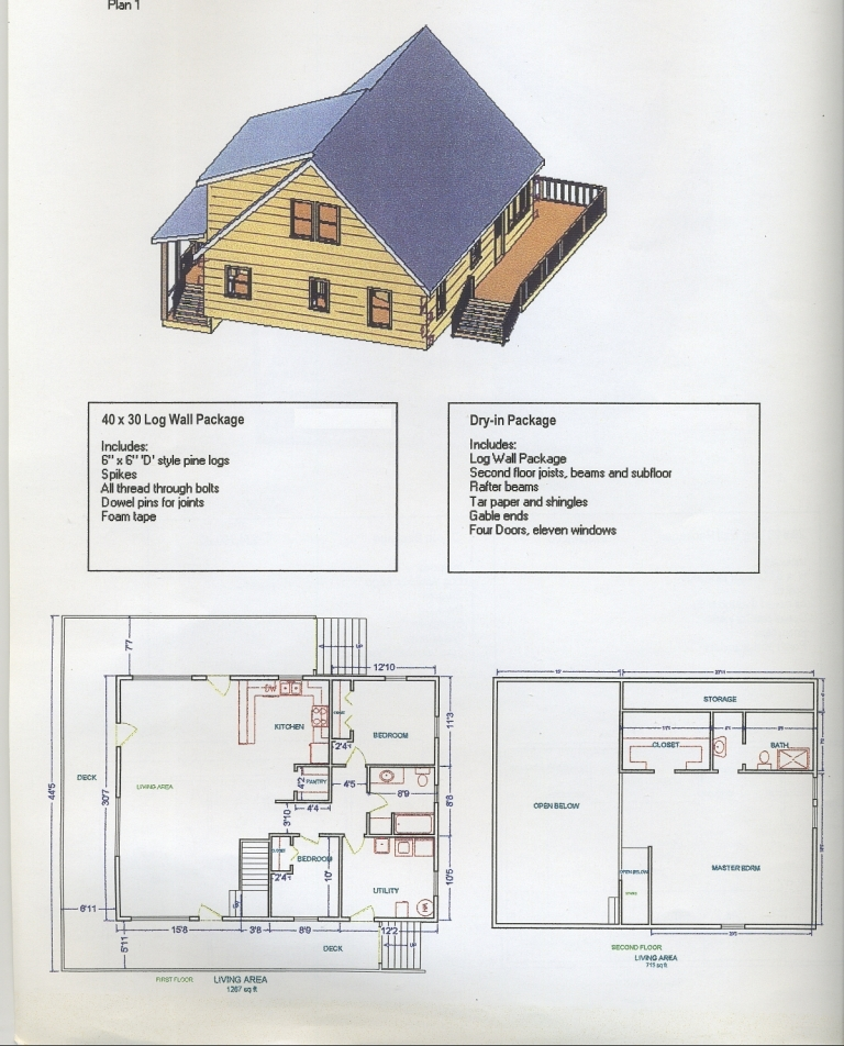 Carpenter log homes plans for Fenetre 30 x 30
